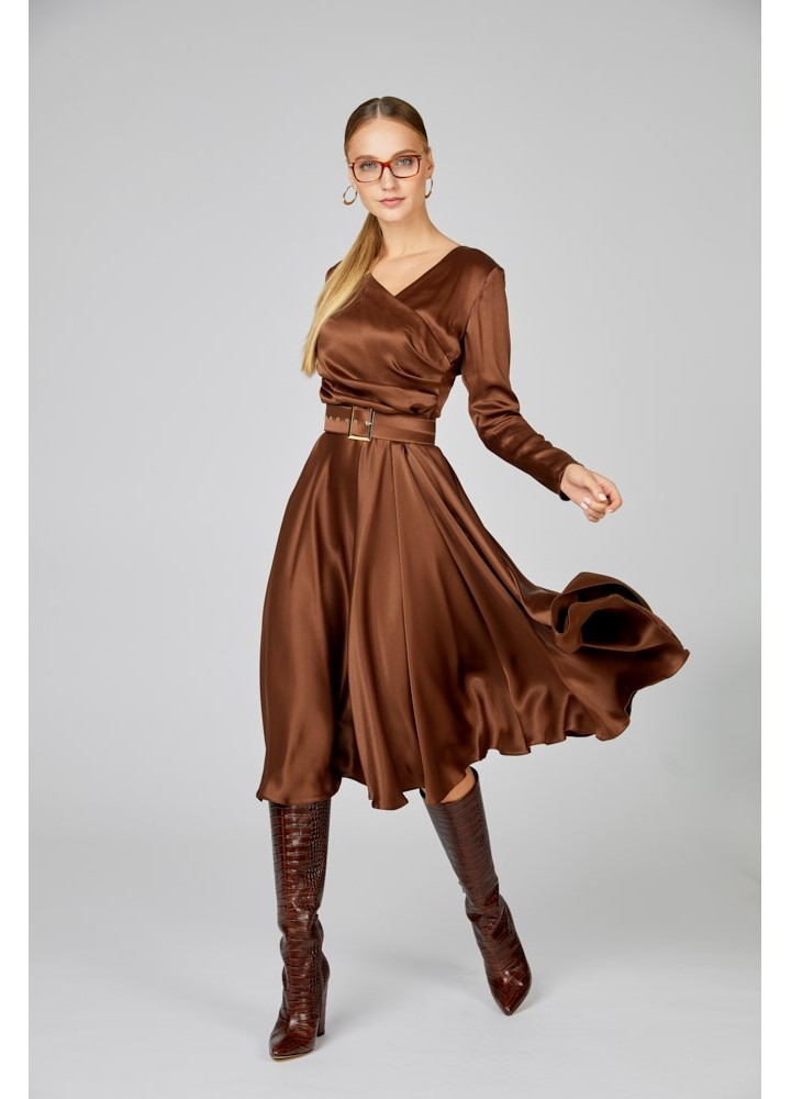 Rochie Poise Coffee Brown