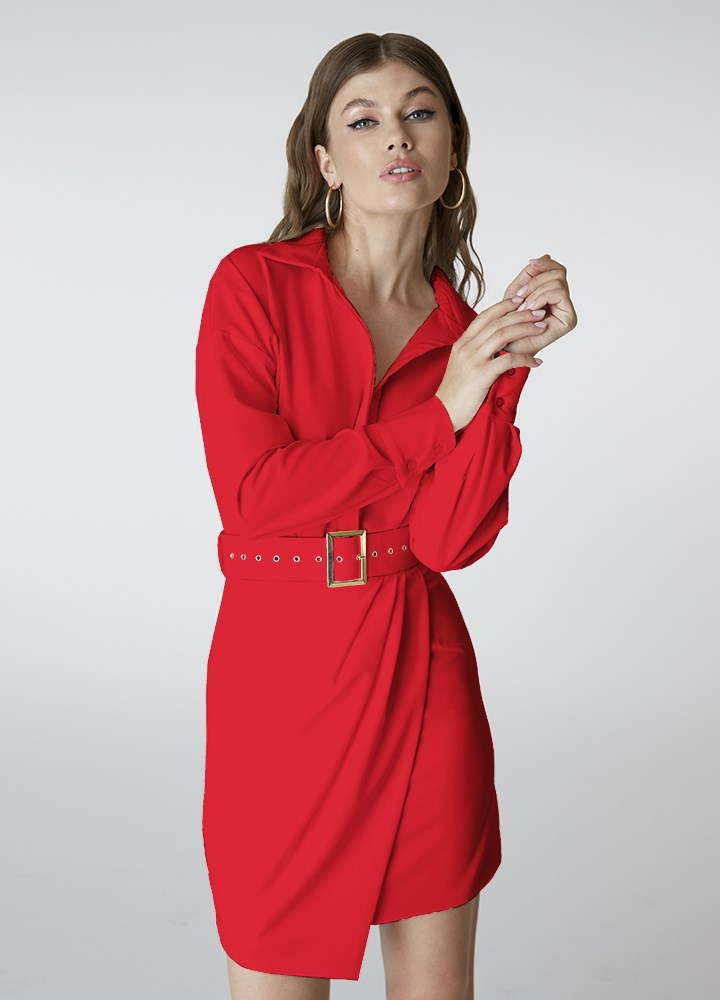 Rochie Chemise Classic Red