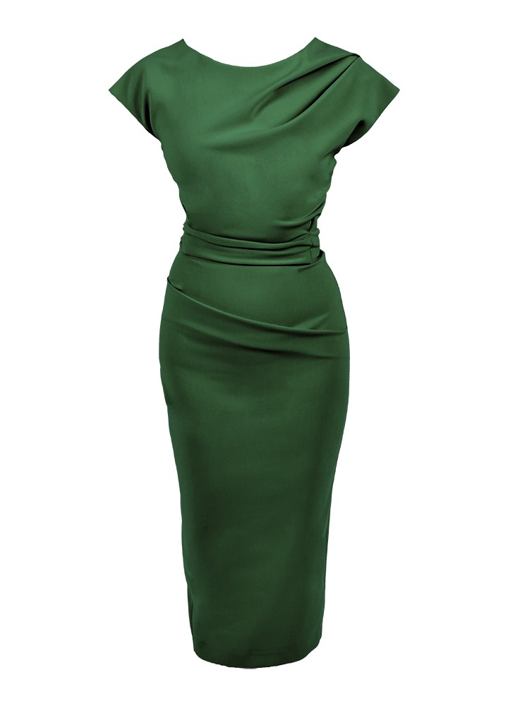 Rochie Ray Forest Green