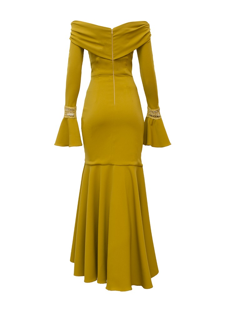 Rochie Tangle Spicy Mustard