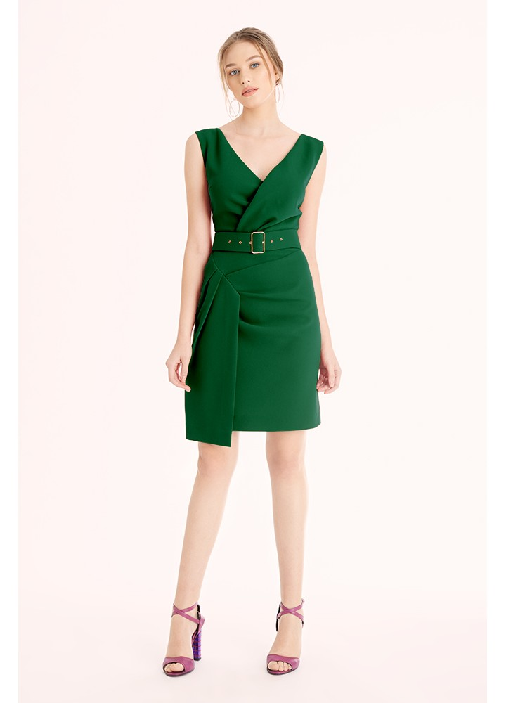 Rochie Charm Forest Green