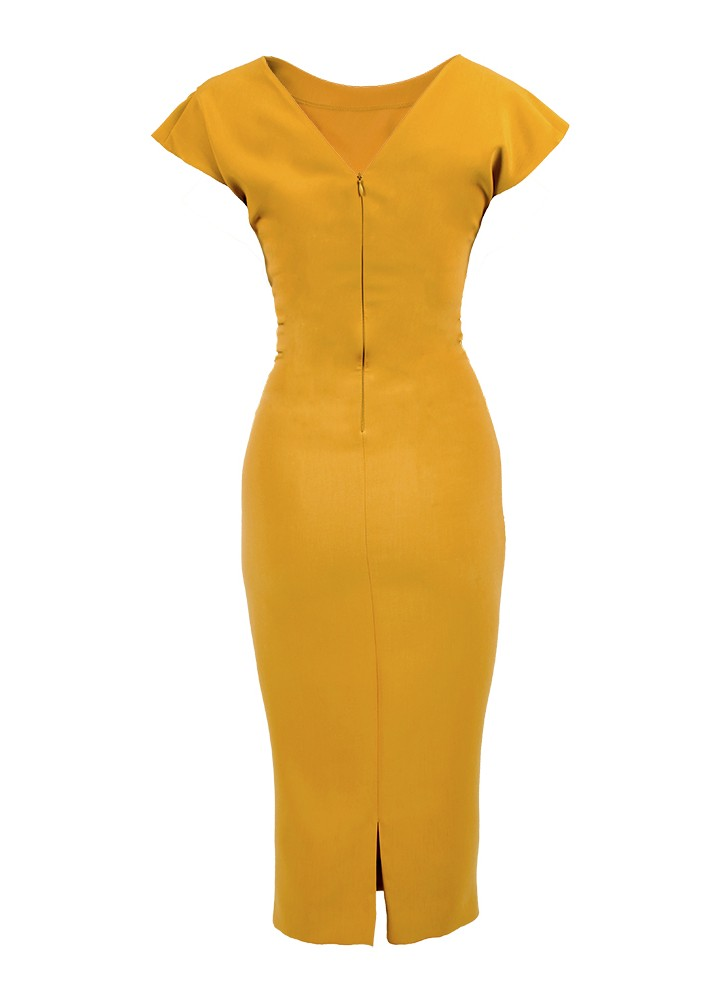 Rochie Ray Mimosa Yellow