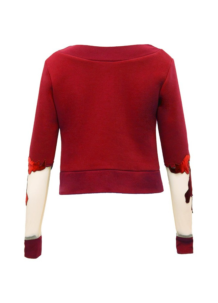 Pulover Crop Canvas Classic Red