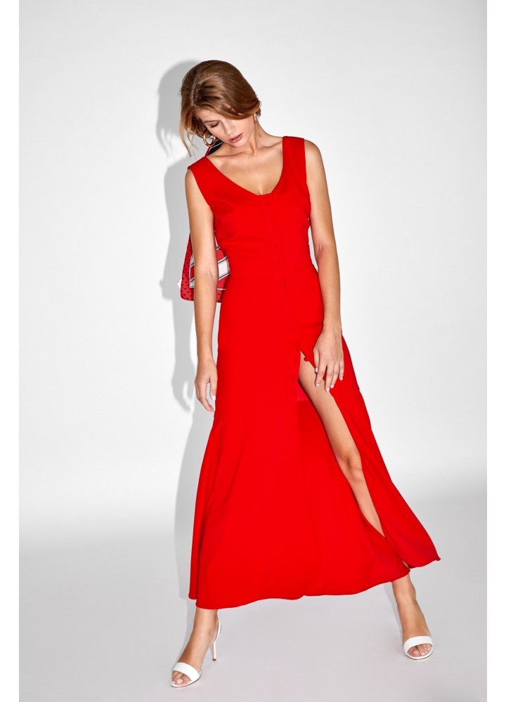 Rochie Button Classic Red