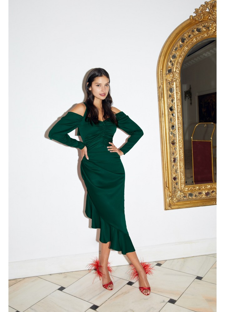 Euforia Dress Petroleum Green