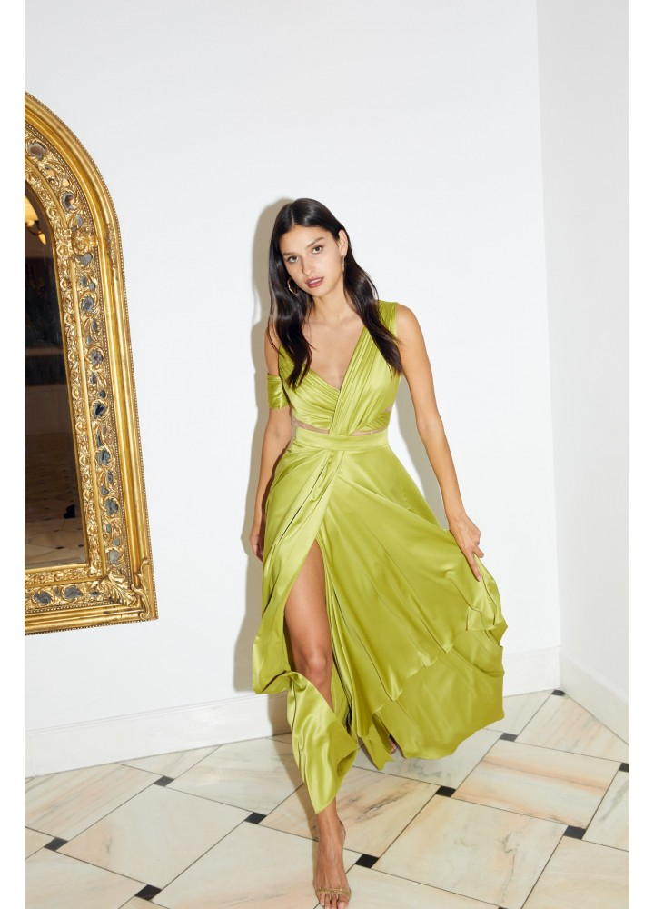 Rochie Trevi Golden Lime