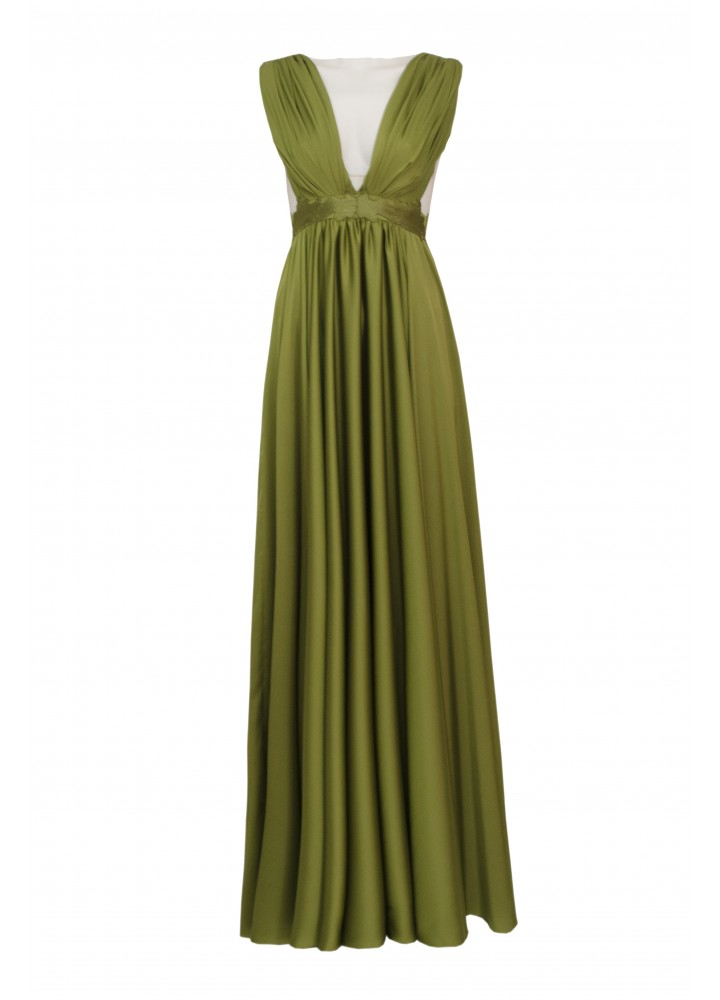 Rochie Wing Golden Olive