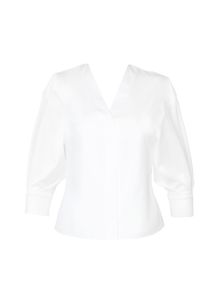 Top Rosy Classic White